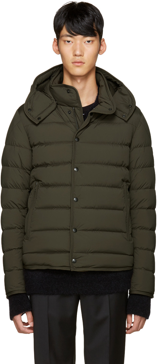 99d8deb9889 Moncler Green Down Nazaire Coat