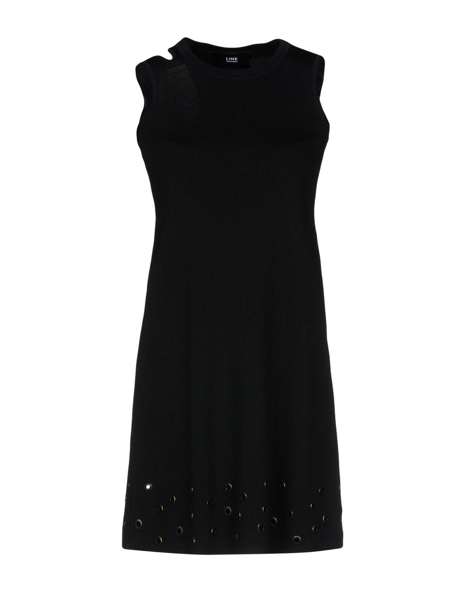 Line Short Dress In Black