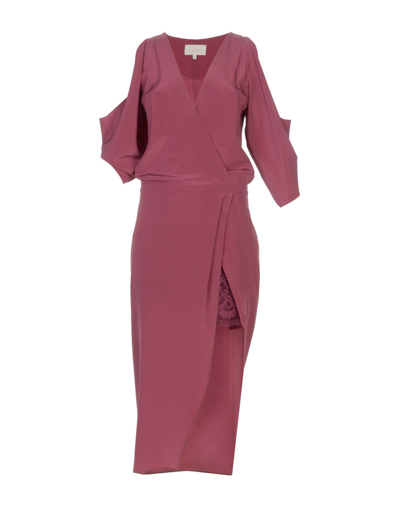 Michelle Mason Short Dress In Mauve