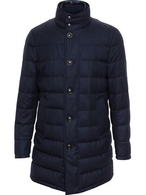 0fe93de56 Flannel Wool Puffa Coat