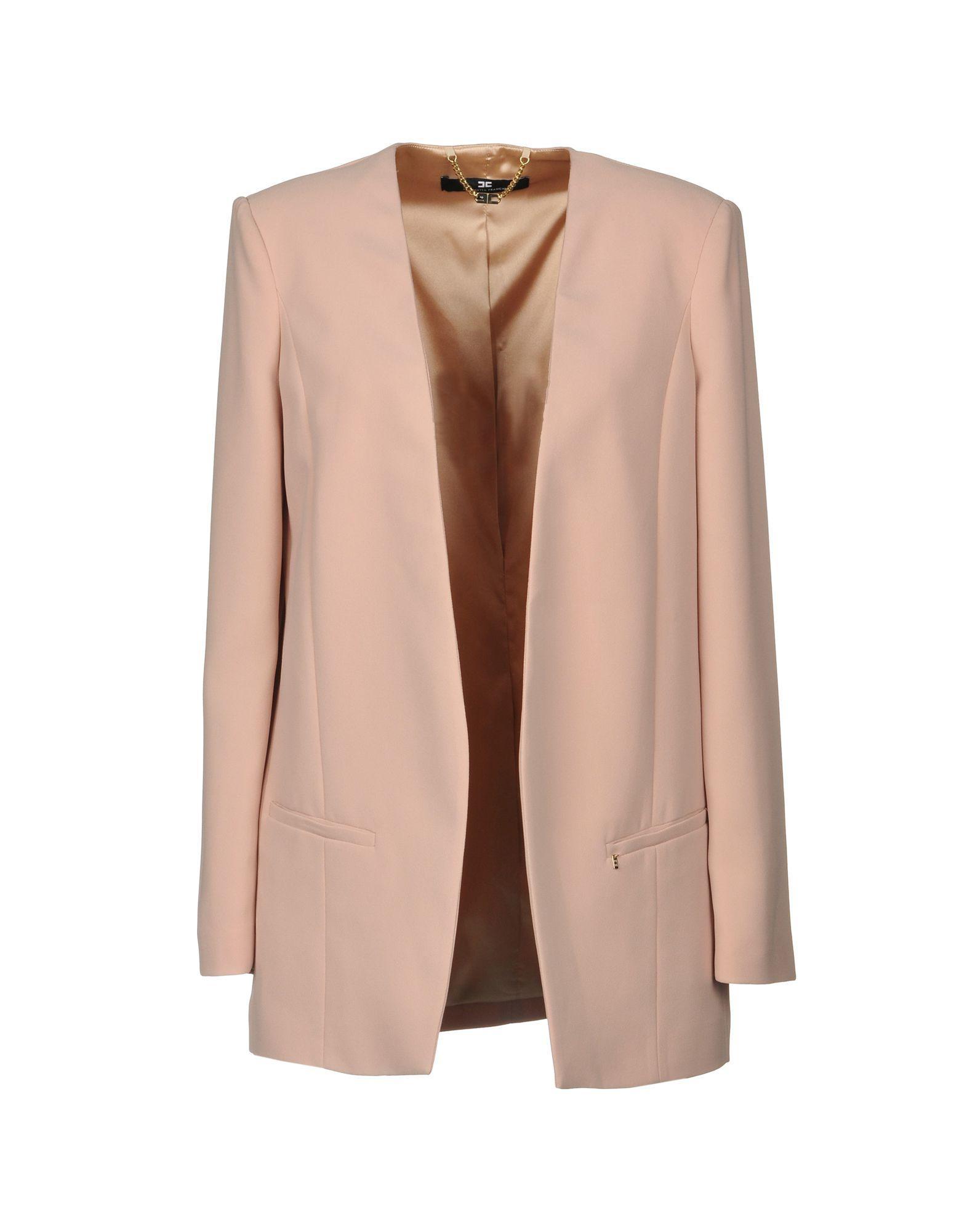 69dc44e569 Elisabetta Franchi Blazers In Pale Pink   ModeSens