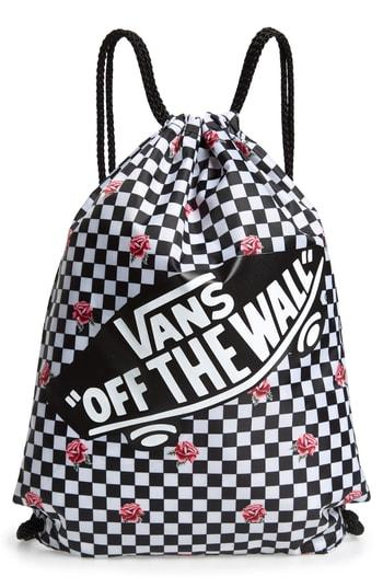 f337963d882 Vans Benched Bag - Black In Rose Checkerboard