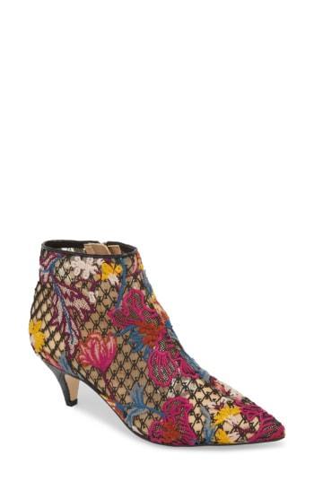 532b55f5a412 SAM EDELMAN. Women s Kinzey Floral-Embroidered Kitten-Heel Booties in  Bright Multi