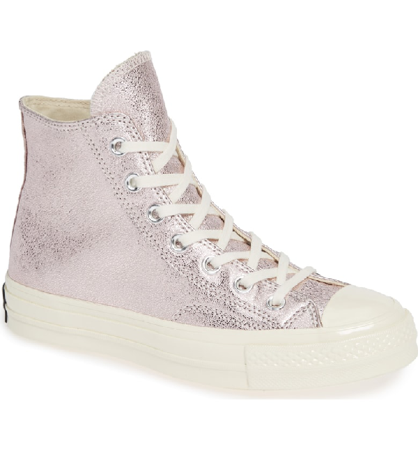 a5b30fcbaefb Converse Women s Chuck Taylor All Star 70 Metallic High Top Sneakers In  Silver Egret