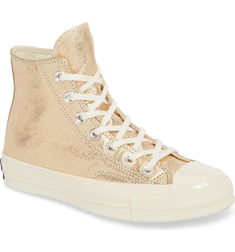 5ea90af369bb1d Converse Chuck Taylor All Star Heavy Metal 70 High Top Sneaker In Gold  Leather
