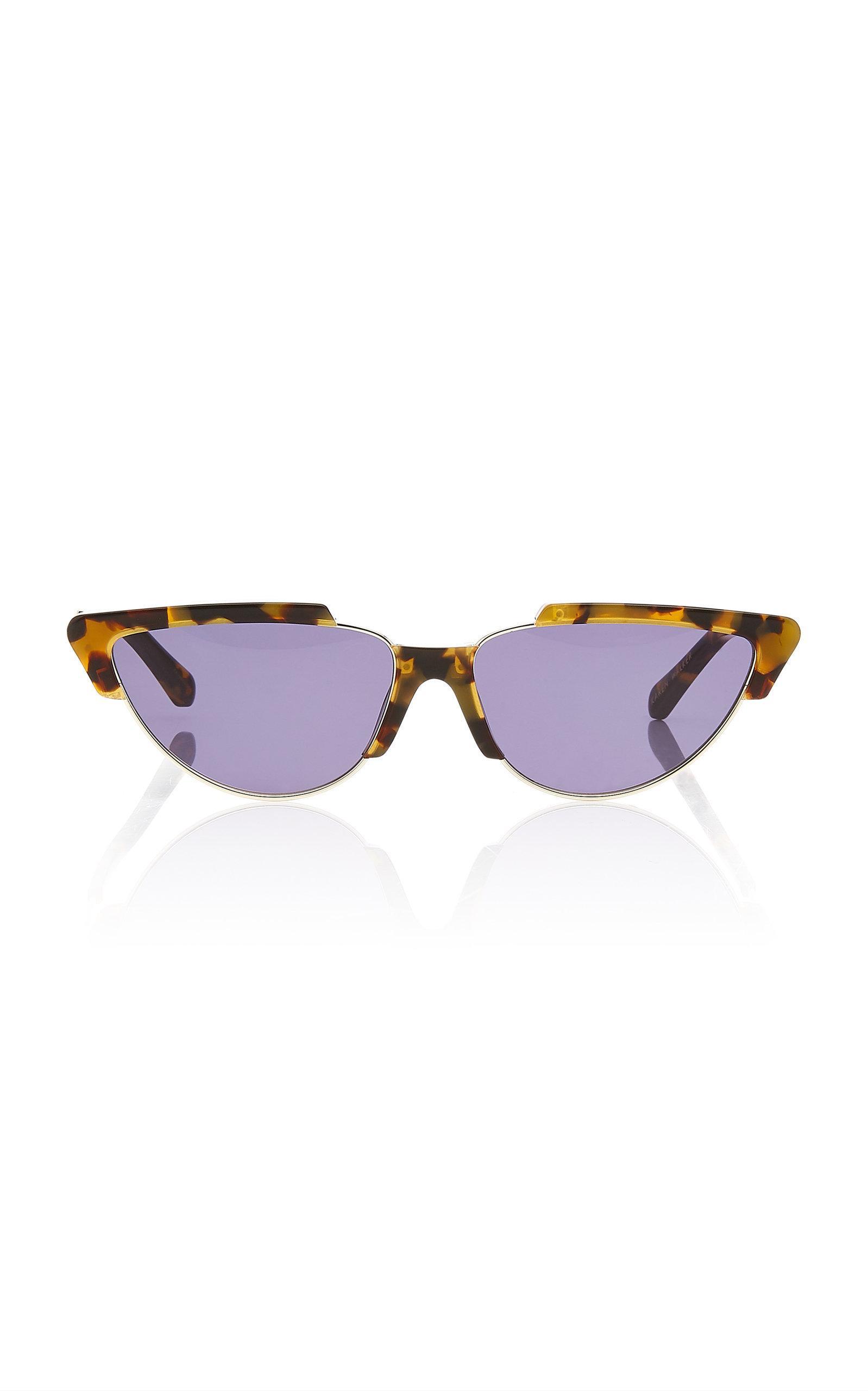 347e60a5d256 Karen Walker Tropics Cat Eye Acetate Sunglasses In Brown | ModeSens
