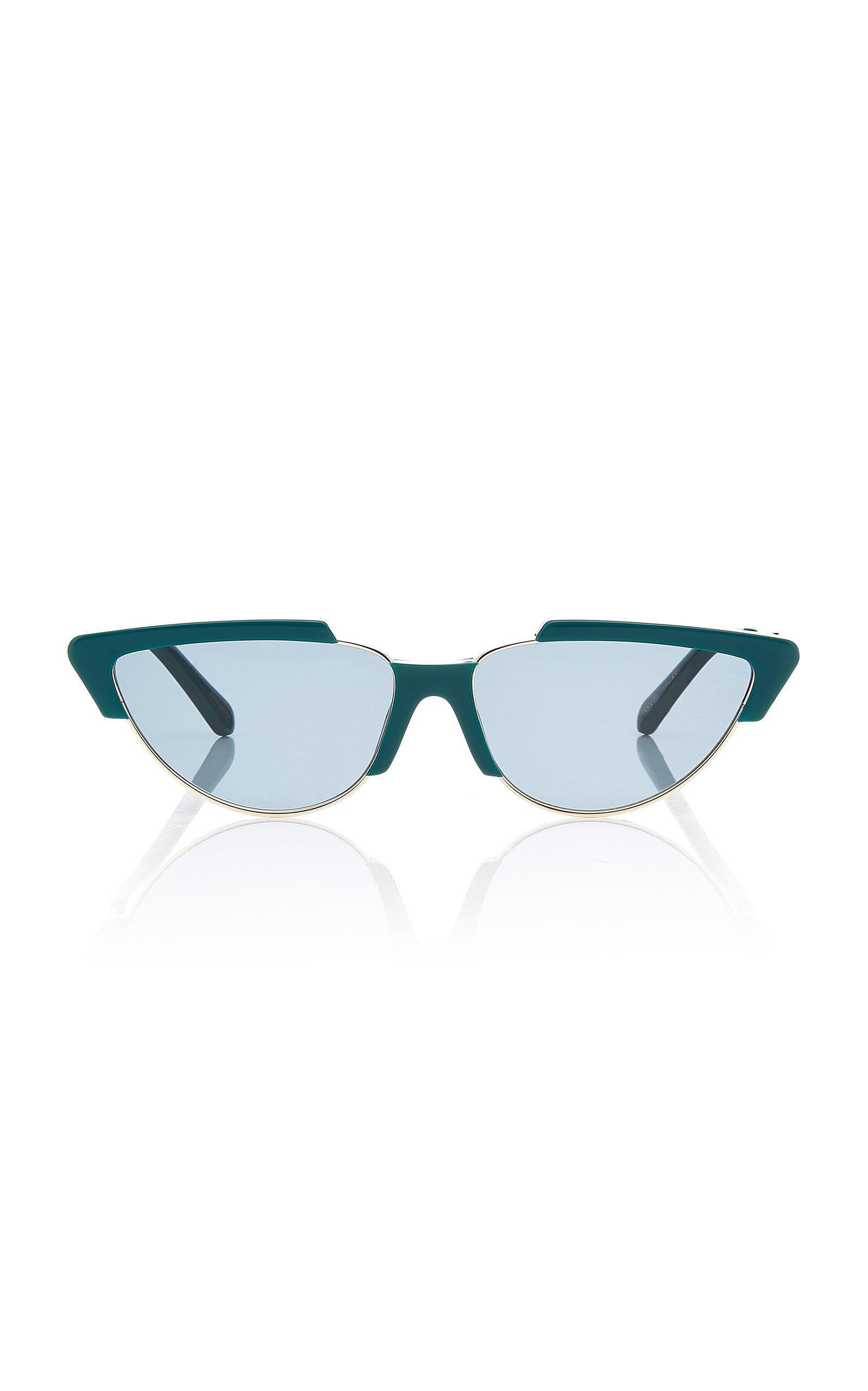fb1009e9442e Karen Walker Tropics Cat Eye Acetate Sunglasses In Green | ModeSens