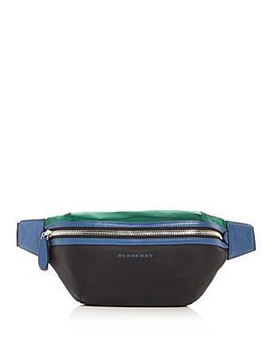 77cbe165e Burberry Sonny Color-Block Belt Bag In Black | ModeSens