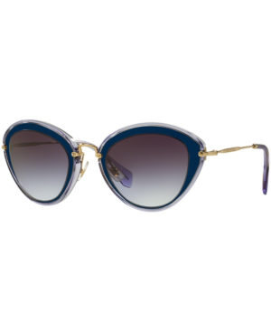 c77255788134 Miu Miu Women's 51Rs Cat Eye Sunglasses, 52Mm In Blue Grey/Grey Gradient