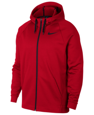 Nike Men's Therma Training Full Zip Hoodie In University Red