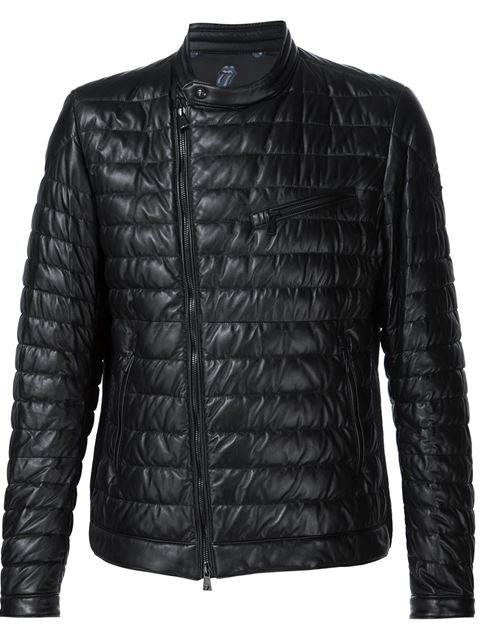 Moncler 'russel' Jacket By ' X Rolling Stones' In Black