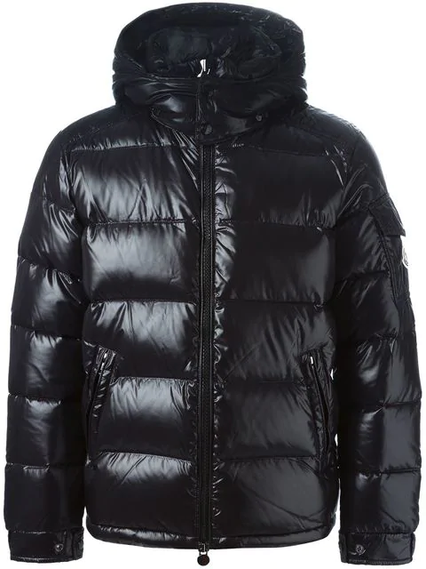 eafdc210e Quilted Shell Down Hooded Jacket in Black