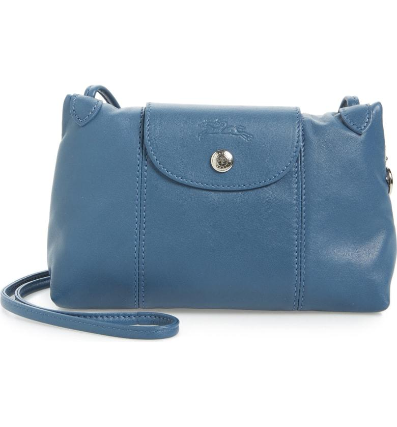 d63e65c0d63e Longchamp Le Pliage - Cuir Crossbody Bag - Blue | ModeSens