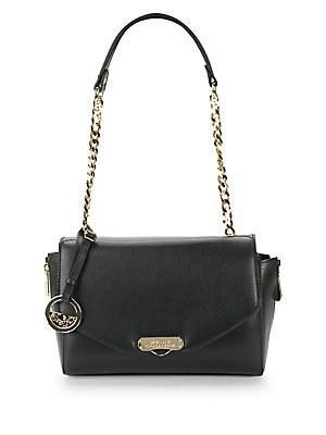 Versace Leather Shoulder Bag In Black