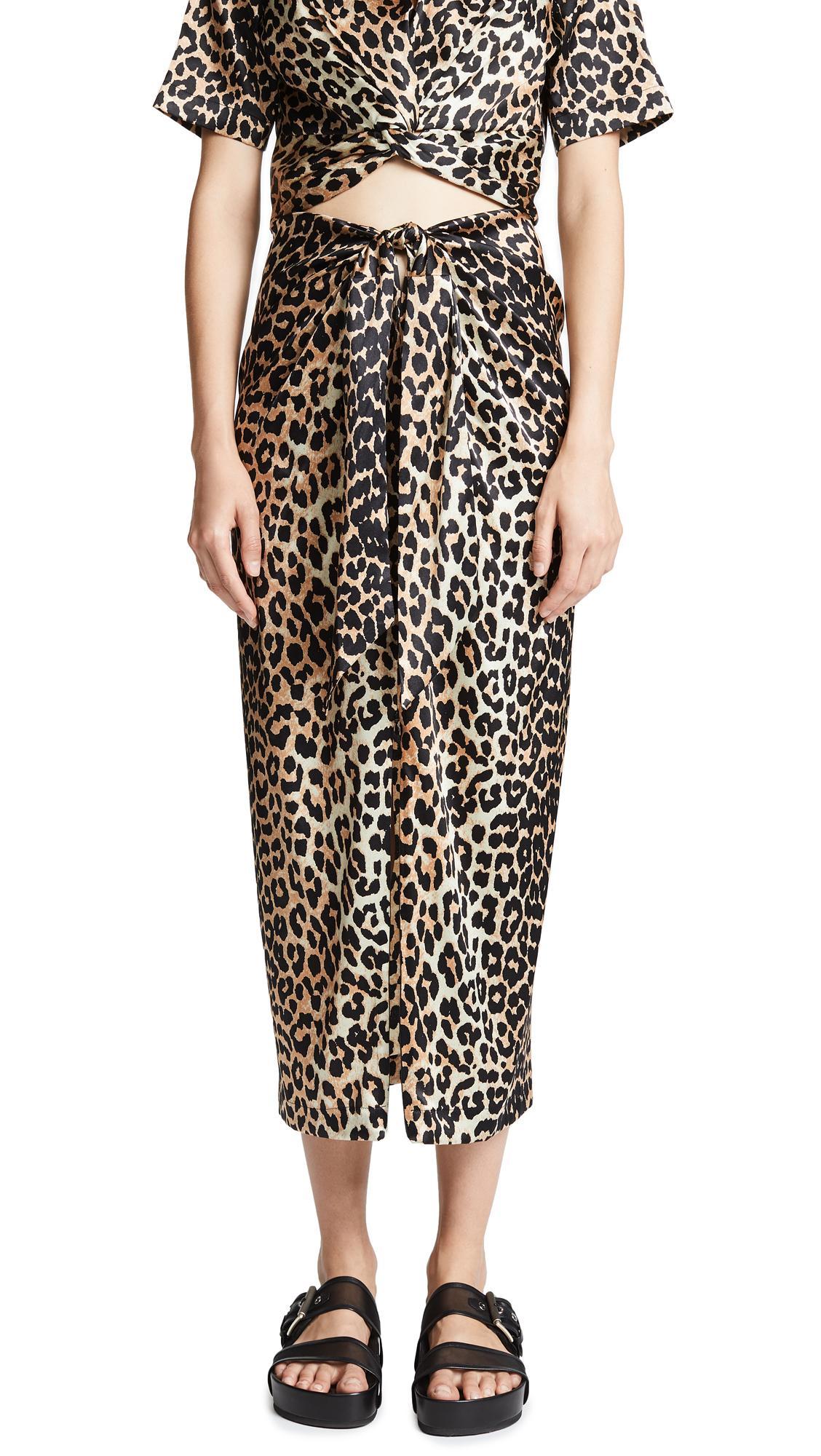 c2026ef2 Ganni Calla Animal Printed Blouse In Leopard | ModeSens