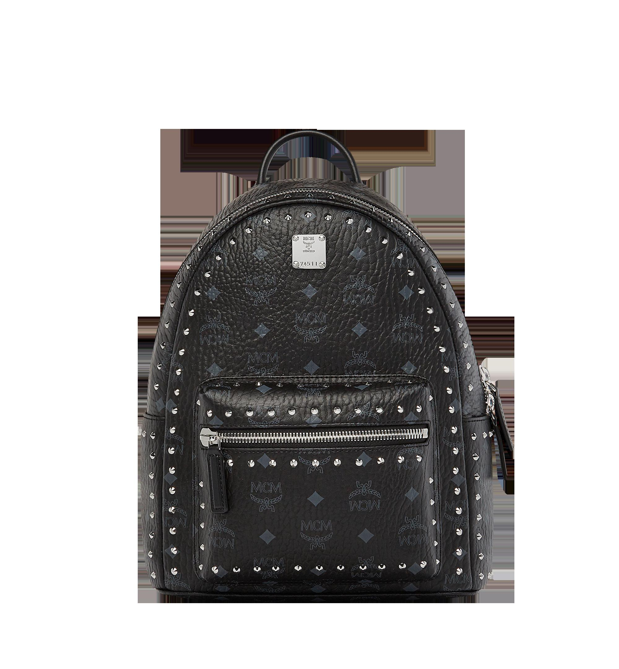e415056454 Mcm Small Black Studded Outline Visetos Stark Backpack