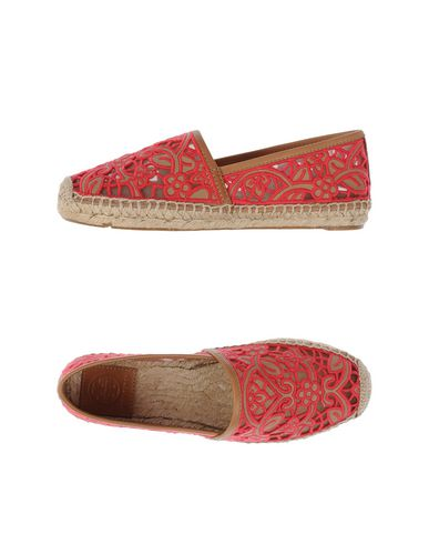 Tory Burch Rhea Mesh & Leather Espadrilles, Fuchsia In Coral