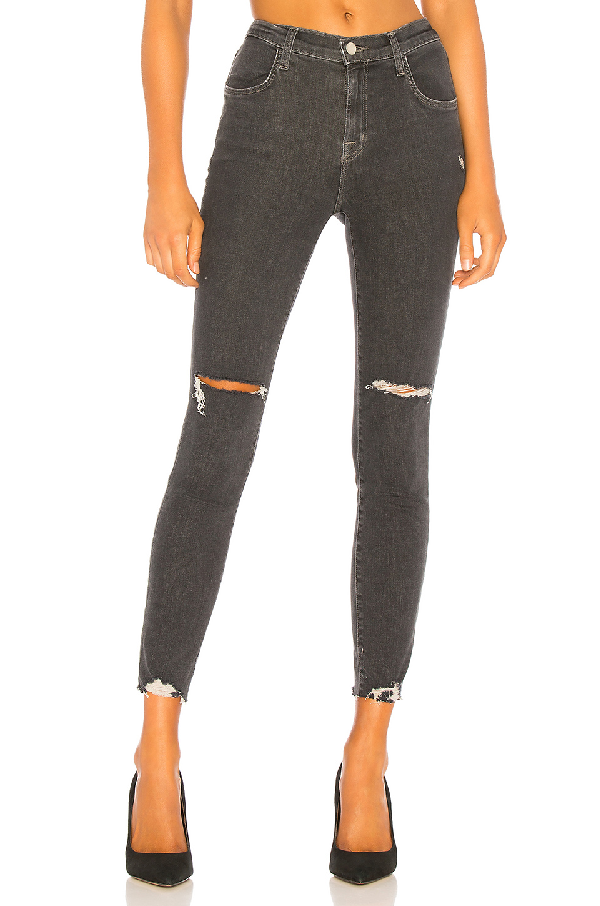 24f1fea874332 J Brand Alana High Rise Crop Skinny Jeans In Ashes Destruct In Gray ...