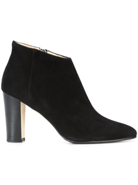 Manolo Blahnik 'Brusta' Almond Toe Ankle Boot (Women) In Black