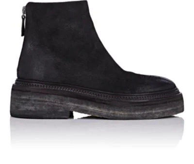 MarsÈLl Crepe-Sole Distressed Suede Ankle Boots - Black