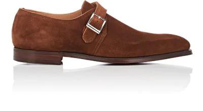 Crockett & Jones Monkton Suede Monk-Strap Shoes - Beige, Tan