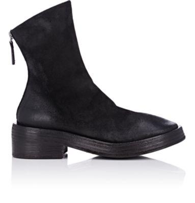 MarsÈLl Distressed Suede Ankle Boots In Black