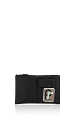 aa7f8d972dae8 Prada Men s Patch 2 Leather Portfolio Case In Black