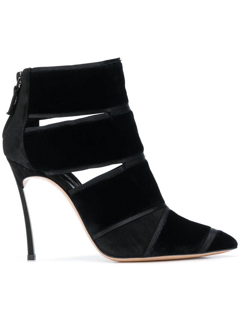 0200899bf4e5 Casadei Women s Yoko Velvet   Suede High-Heel Booties In Black ...