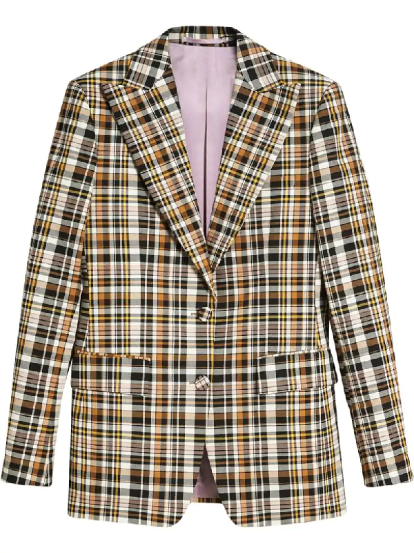 Burberry Snowhill Printed Cotton Blazer In Brown