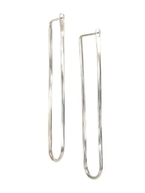 Werkstatt:münchen Loop Drop Earrings In Metallic