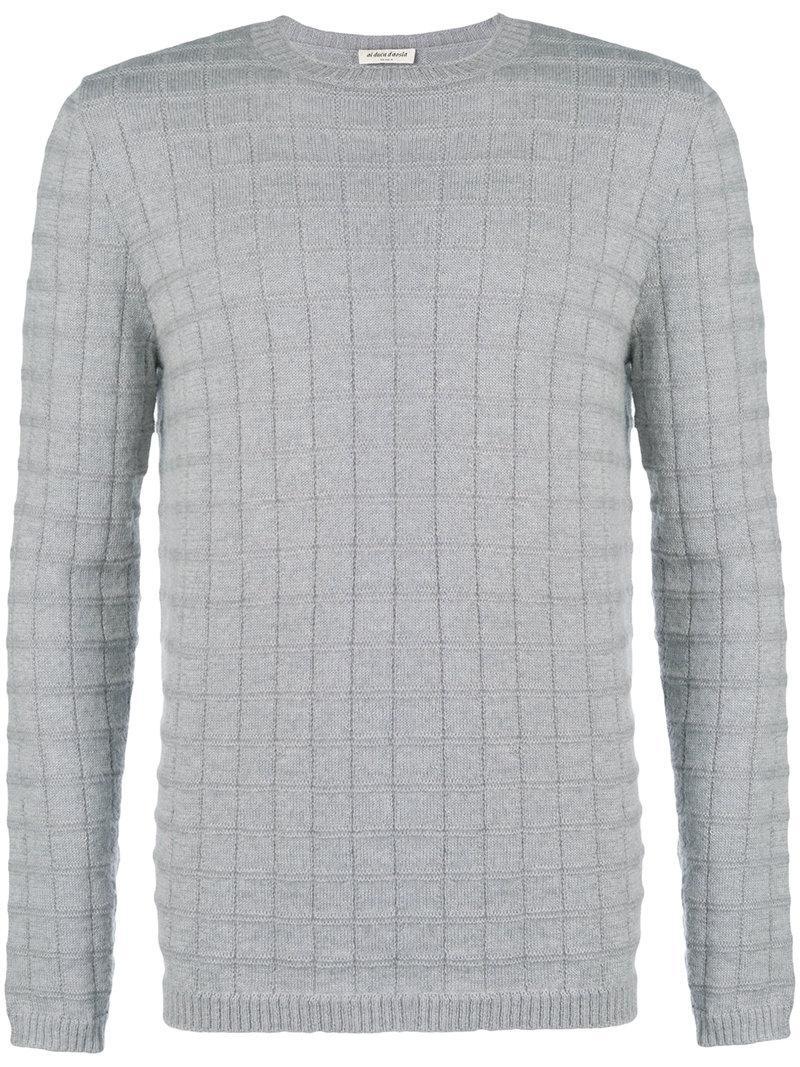 a96089fcb1 Al Duca D Aosta 1902 Textured Crew Neck Sweater - Grey