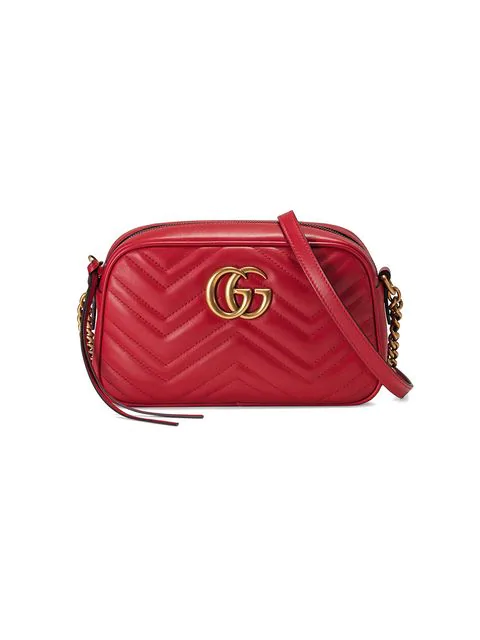 8e1fbfb505ef Gucci Small Gg Marmont 2.0 MatelassÉ Leather Camera Bag In Red ...