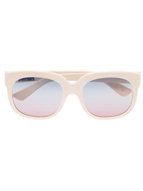 Gucci Eyewear Ivory Elton John Sunglasses - Neutrals In Nude & Neutrals