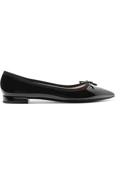 d58ec706caa61 Prada Women's Leather Ballet Flats Ballerinas In Black   ModeSens