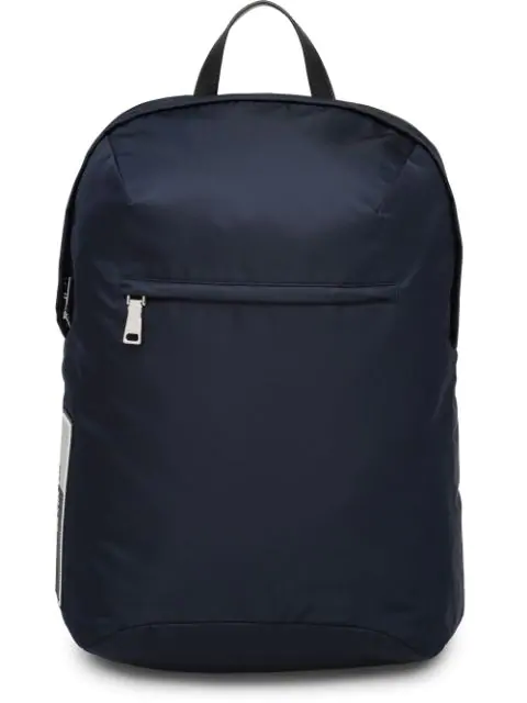 Prada Zipped Backpack In Blue