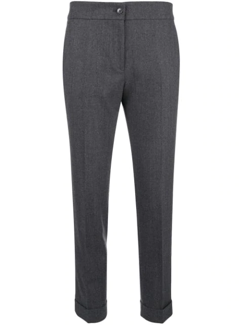Etro Cropped Tailored Trousers - Grey