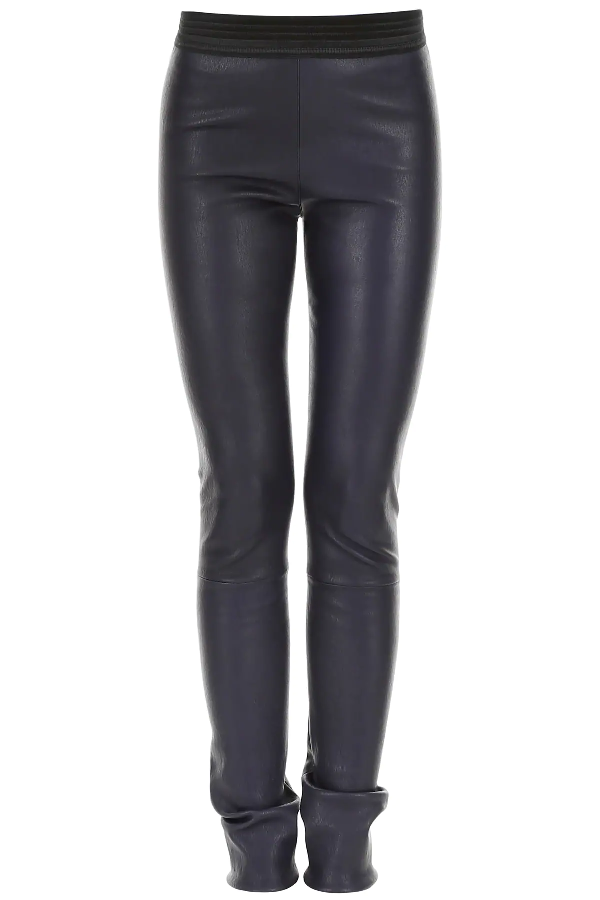 Drome Leather Leggings In Blue