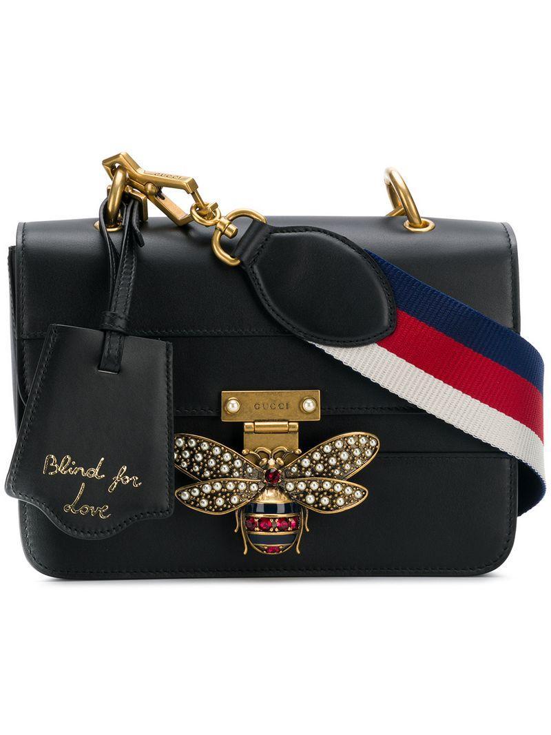 b5ee931d8217 Gucci Tasche Mit Bienen-Motiv - Schwarz In Black | ModeSens