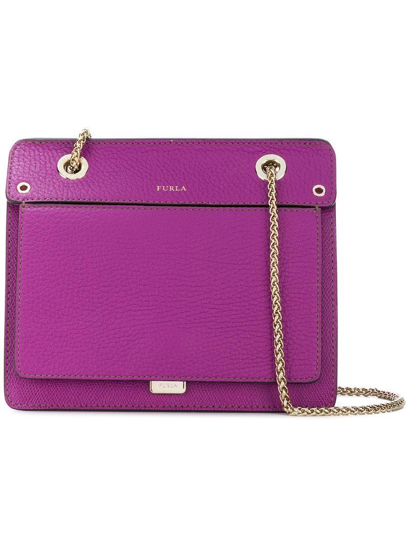 0a51dfbf3b9 Furla Pebbled Texture Crossbody Bag In Pink | ModeSens