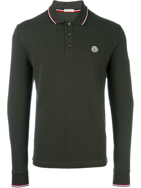 989fd4b95e8d Moncler Long Sleeve Polo Shirt