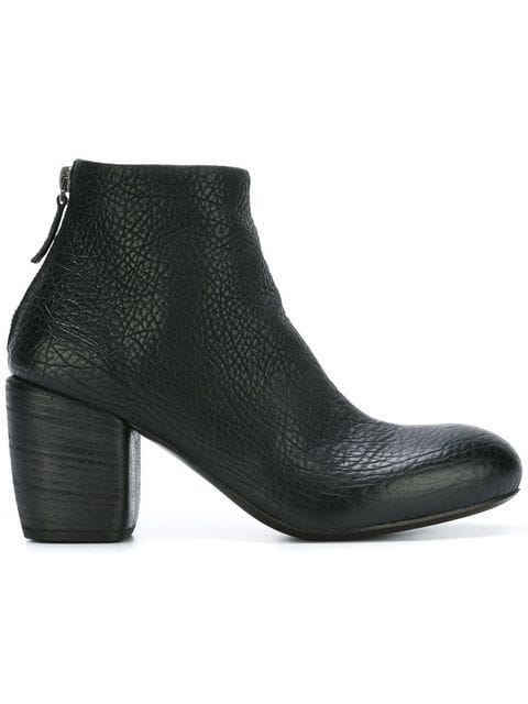 MarsÈLl Chunky Heel Ankle Boots In Black