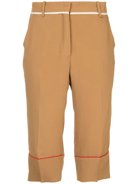 N°21 Nº21 Side-Striped Tailored Shorts - Brown