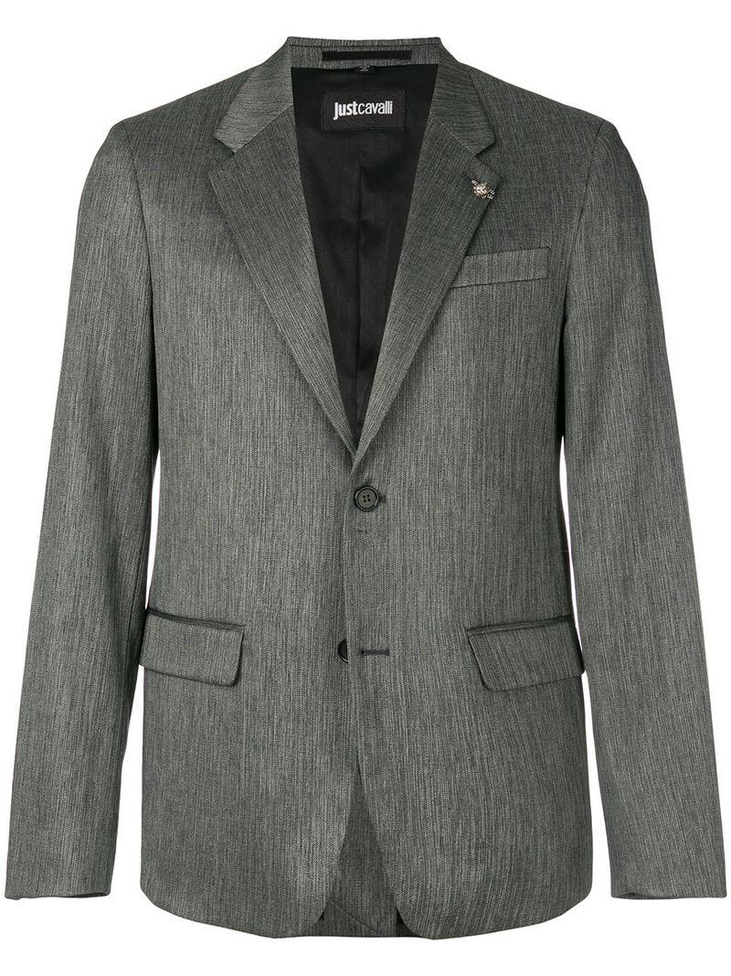 Just Cavalli Patterned Blazer - Grey
