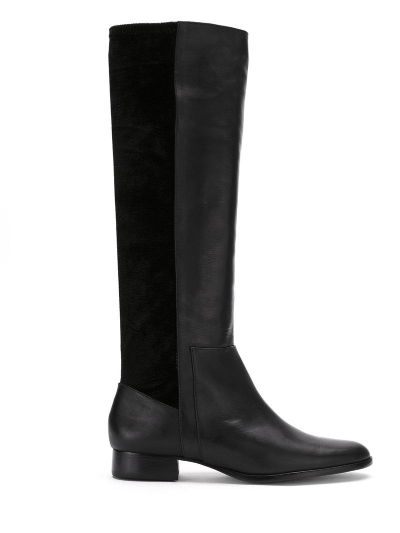 Zeferino High Ankle Leather Boots - Black