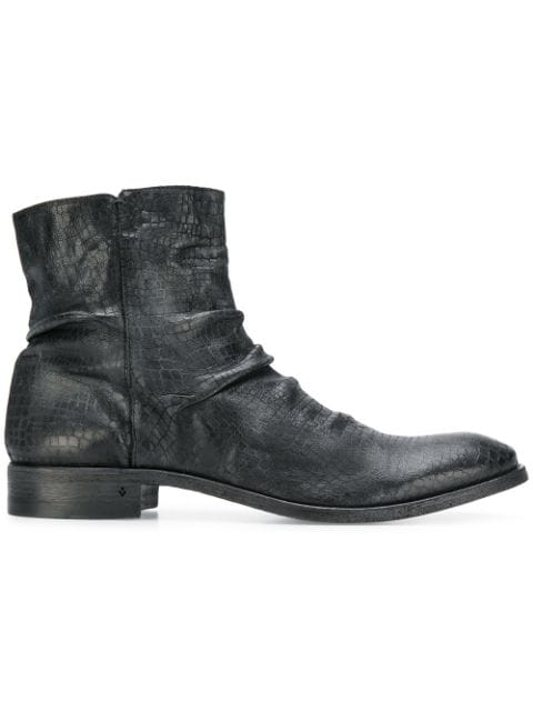 John Varvatos Side Zip Ankle Boots In Black