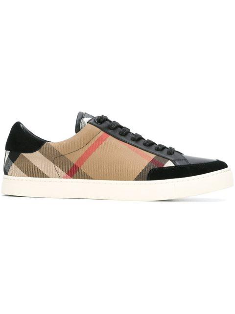 Burberry 'reynold' Brown Sneakers In Black