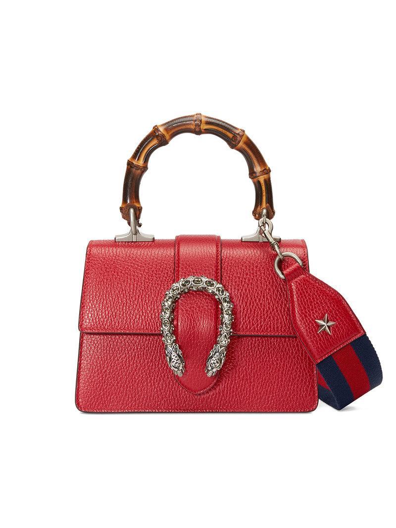 c9c9ea415a12 Gucci Dionysus Mini Top Handle Bag - Red | ModeSens