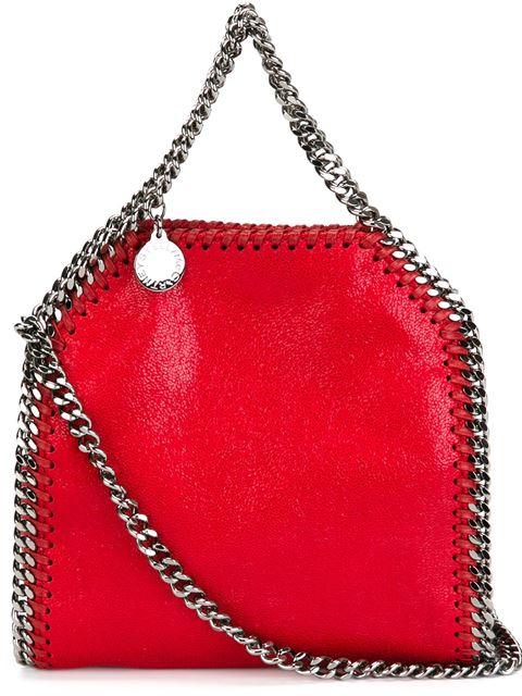 Stella Mccartney Mini 'Falabella Shaggy Deer' Crossbody Bag In 6261 Ruby