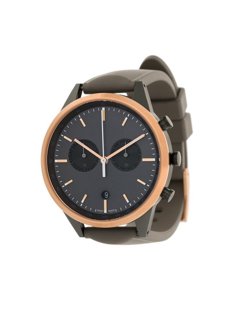 2d3d85eda Uniform Wares C41 Chronograph Watch - Grey   ModeSens