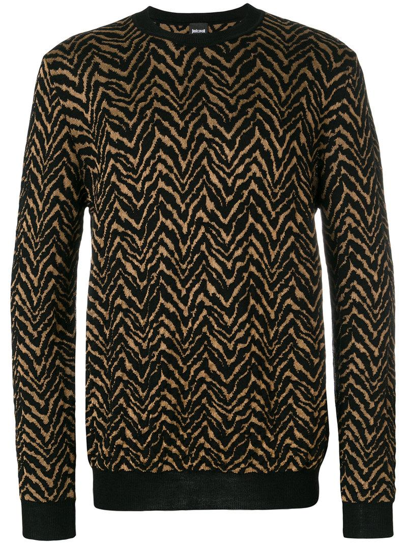 Just Cavalli Patterned Sweater - Brown